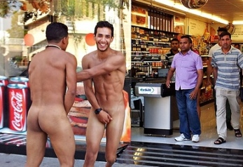 Naked Italians in Barcelona